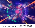 abstract lens flare. concept... | Shutterstock . vector #1012822042