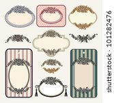 set of roses vintage frames and ...   Shutterstock .eps vector #101282476