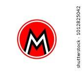 letter m logo concept | Shutterstock .eps vector #1012825042