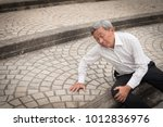old man falling down  senior... | Shutterstock . vector #1012836976