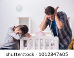 young dad cannot stand baby...   Shutterstock . vector #1012847605
