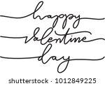 hand lettering happy valentine...   Shutterstock .eps vector #1012849225