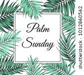 palm sunday christian feast... | Shutterstock .eps vector #1012860562