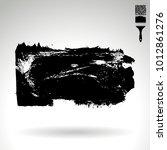 black brush stroke and texture. ... | Shutterstock .eps vector #1012861276