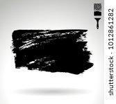 black brush stroke and texture. ... | Shutterstock .eps vector #1012861282