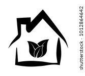 ecology home icon. green house... | Shutterstock .eps vector #1012864642