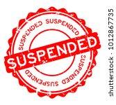 grunge red suspended round... | Shutterstock .eps vector #1012867735