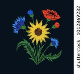 floral embroidery with colorful ... | Shutterstock .eps vector #1012869232