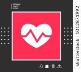 heart medical icon | Shutterstock .eps vector #1012871992