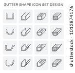 gutter shape icon set design. | Shutterstock .eps vector #1012874176