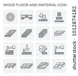 wood floor and construction... | Shutterstock .eps vector #1012874182