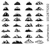 big set of mountain icons... | Shutterstock .eps vector #1012875202