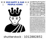 sad emperor pictograph with 550 ... | Shutterstock .eps vector #1012882852