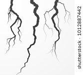 set of rift and cleft. split... | Shutterstock .eps vector #1012887442