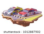 vector low poly stock car... | Shutterstock .eps vector #1012887502