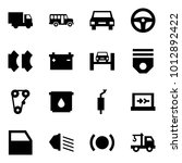 origami style icon set   car... | Shutterstock .eps vector #1012892422