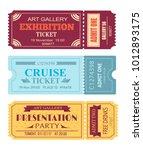 art gallery exhibition ticket ... | Shutterstock .eps vector #1012893175