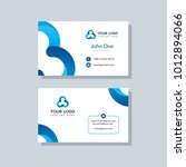 modern business card template... | Shutterstock .eps vector #1012894066
