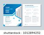 annual report  broshure  flyer  ... | Shutterstock .eps vector #1012894252