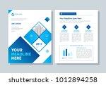 annual report  broshure  flyer  ... | Shutterstock .eps vector #1012894258