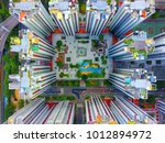 aerial view of downtown city... | Shutterstock . vector #1012894972