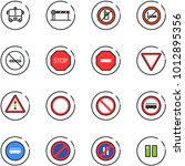 line vector icon set   airport... | Shutterstock .eps vector #1012895356