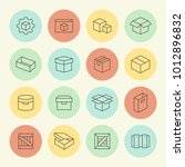 box and package vector line... | Shutterstock .eps vector #1012896832