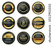 quality badge and labels set | Shutterstock .eps vector #1012901032