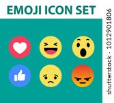emoji icon set . vector... | Shutterstock .eps vector #1012901806