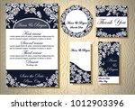 wedding invitation cards | Shutterstock .eps vector #1012903396