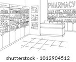 pharmacy interior graphic store ... | Shutterstock .eps vector #1012904512
