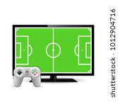 joystick and tv with football...   Shutterstock .eps vector #1012904716