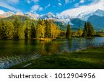 view of mont blanc from lake of ... | Shutterstock . vector #1012904956