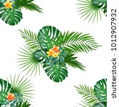 tropical seamless pattern with... | Shutterstock .eps vector #1012907932