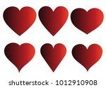 red heart vector icon... | Shutterstock .eps vector #1012910908