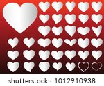 silver red heart vector icon... | Shutterstock .eps vector #1012910938