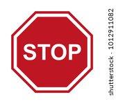 stop sign. danger. prohibiting. ... | Shutterstock .eps vector #1012911082