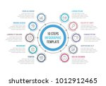 circle infographic template... | Shutterstock .eps vector #1012912465