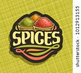 vector logo for spices  in cut... | Shutterstock .eps vector #1012913155