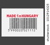 vector realistic barcode  made... | Shutterstock .eps vector #1012914325