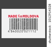 vector realistic barcode  made... | Shutterstock .eps vector #1012914328
