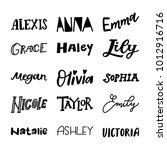 english hand lettered names  | Shutterstock .eps vector #1012916716