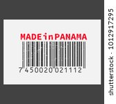 vector realistic barcode  made... | Shutterstock .eps vector #1012917295