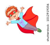 cute super boy character vector ... | Shutterstock .eps vector #1012919356
