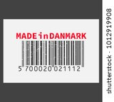 vector realistic barcode  made... | Shutterstock .eps vector #1012919908
