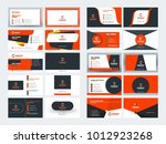 double sided business card... | Shutterstock .eps vector #1012923268