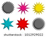 set of multicolor blank various ... | Shutterstock . vector #1012929022