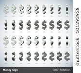 Vector Money Sign With 360...