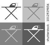 vector icon set   iron and... | Shutterstock .eps vector #1012929856