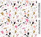 terrazzo seamless pattern.... | Shutterstock .eps vector #1012931086